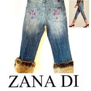 Zana Di Vintage 80's Cropped Removable Fur Leg